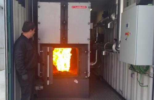 Caldera de biomasa para empresa de secado de jamones