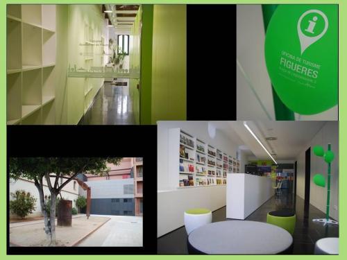 Fachada ventilada de madera certificada para la oficina de turismo de Figueres