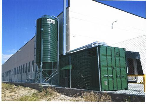 Nueva caldera de biomasa para empresa de secado de jamones