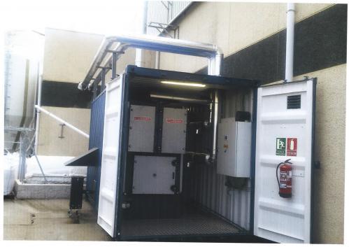 Substitución de consumo de gasoil por biomasa con nueva caldera