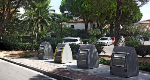 Instalación de contenedores de reciclaje soterrados