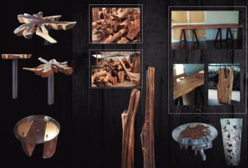 Nueva línea de muebles de madera noble y cristal - DERI 12