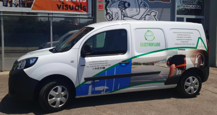 Furgoneta elèctrica per a ELECTROFLUXE
