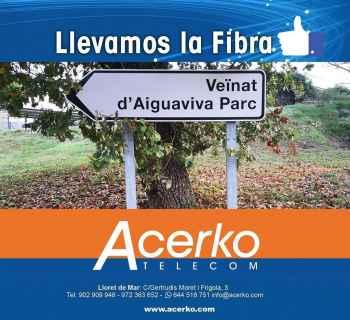 Fibra óptica para Aiguaviva Parc - Acerko Telecom