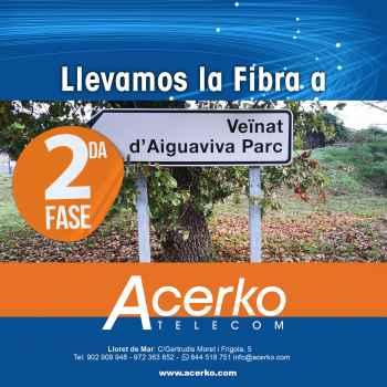 Fibra óptica para Aiguaviva Parc - Fase 2 - Acerko Telecom